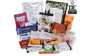 Day Ration Pack MRE Operations Food 3000 Kcal| genuine military style MRE 'meal-ready-to-eat' Food, nutritious, delicious and easy to use | MRE food from EVAQ8 the UK's Emergency Preparedness specialist