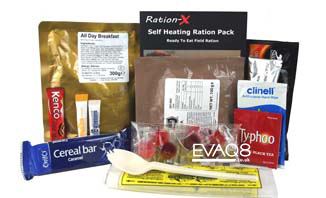 Ration-X MRE | genuine military style MRE 'meal-ready-to-eat' Food, nutritious, delicious and easy to use | MRE food from EVAQ8 the UK's Emergency Preparedness specialist